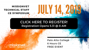 Click Here to Register for the 2019 MissionVet Tech Symposium