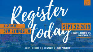 Register Today 2019 DVM Symposium